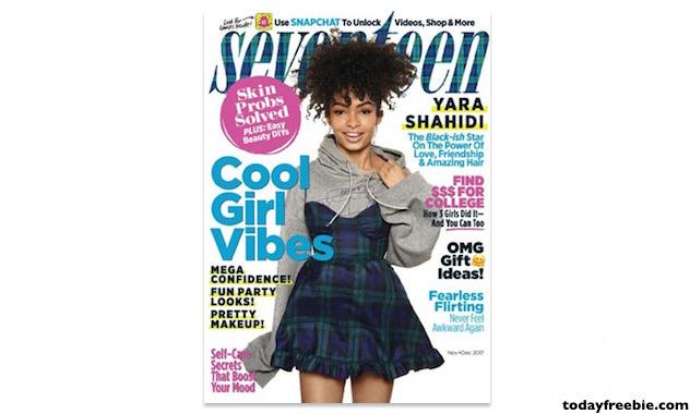 FREE 1 Year Subscription to Seventeen Magazine | Free Stuff